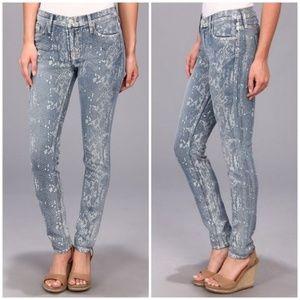 Hudson Nico Midrise Super Skinny Snake Print Jeans